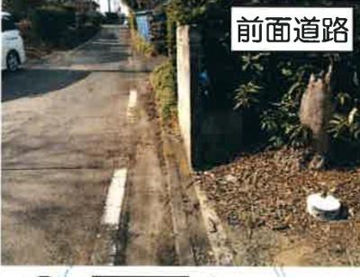 【前面道路含む現地写真】調整区域 守谷市高野 売地(宅地)