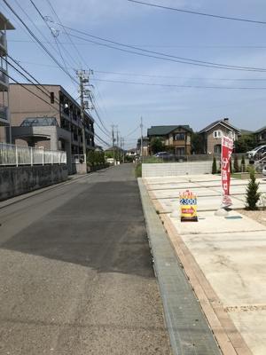 【前面道路含む現地写真】つくば市松代 A号棟
