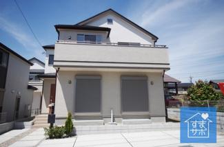 3号棟 現地(2019年4月)撮影 堂々完成しました!即入居可能♪ 土地面積134.51㎡(40.68坪)※仮換地面積。 駐車2台可能。
