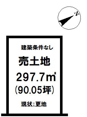 【土地図】東田町金子平 売土地