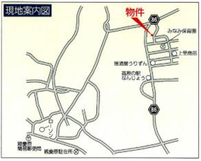【地図】南城市つきしろ 分譲住宅 1号棟