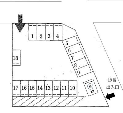 【区画図】稲丘駐車場