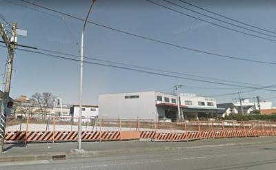 【外観】県道藤沢鎌倉線沿い工業地域の売地(更地)