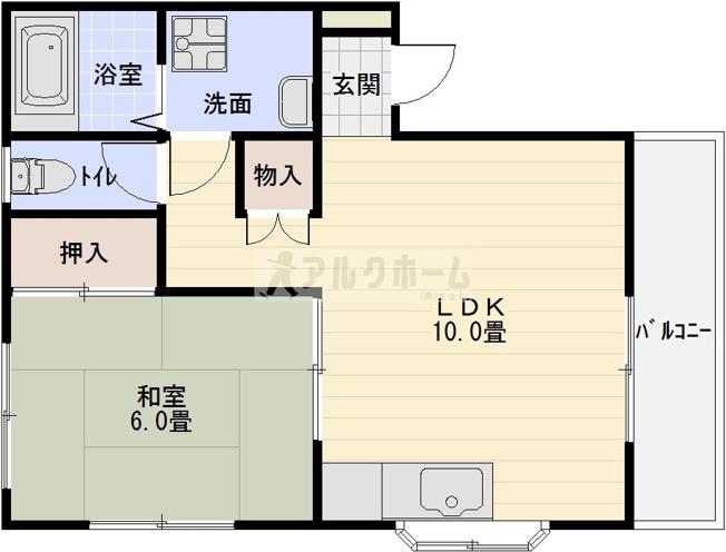 大清青谷ハイツ 1LDK セパレート 駅近