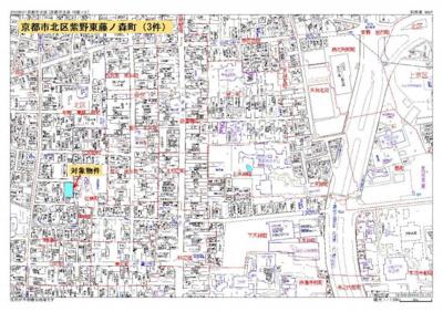 【地図】紫野東藤ノ森町(1号地)