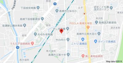 【地図】北大樋町貸家