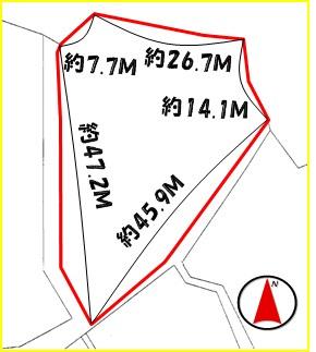 【区画図】中城村字泊(374.19坪)