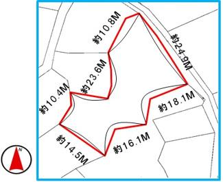 【区画図】中城村字泊(169.09坪)