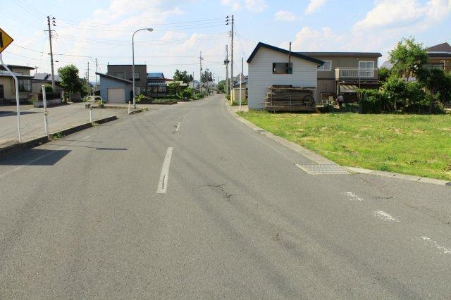 【前面道路含む現地写真】米沢市笹野 土地