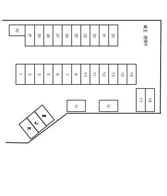 【区画図】コースケ第一駐車場