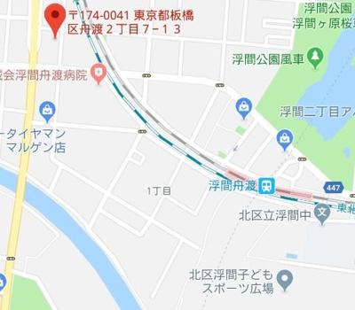 【地図】エルスタンザ舟渡