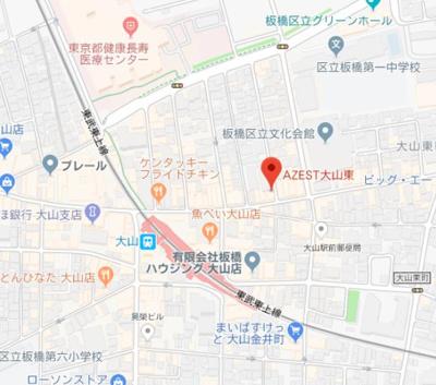 【地図】AZEST大山東