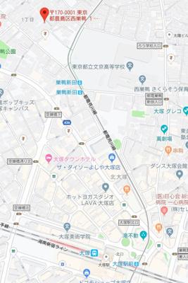 【地図】コモドスタイル大塚
