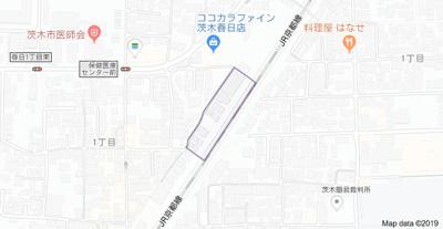【地図】リヴリ 茨木春日