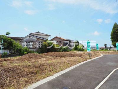 【前面道路含む現地写真】奈良市西大寺町の売地 全3区画