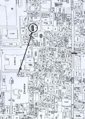 【地図】小松原北町 中古戸建