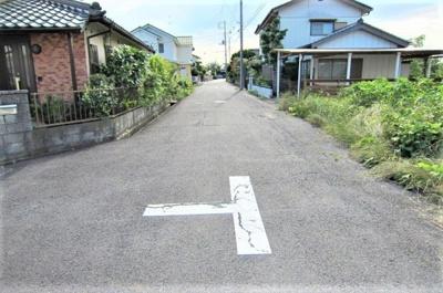 【前面道路含む現地写真】牛久市田宮町