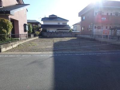 【前面道路含む現地写真】高崎市筑縄町売地