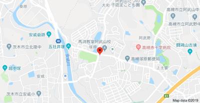 【地図】塚原4丁目二戸一 (株)Roots