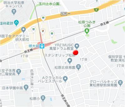 【地図】LUXE GARDEN MATSUBARA