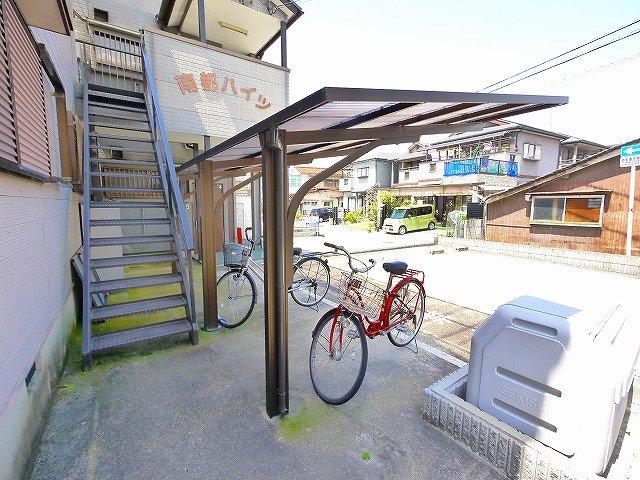 自転車の駐輪も出来ます。