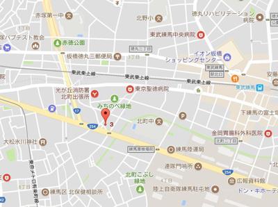 【地図】ブライズ練馬ノース