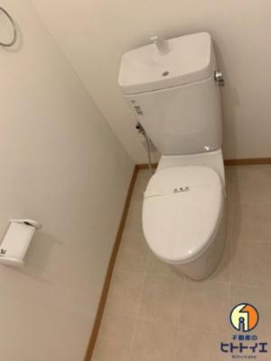 スペースが確保されているトイレです(※リノベーション中)