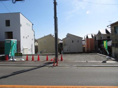 【前面道路含む現地写真】池田市畑3丁目 土地 3号地