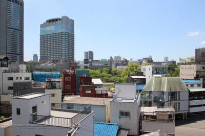 物件からの眺望写真になります。 6階なので遠くまで見えて心が安らぐようですね。