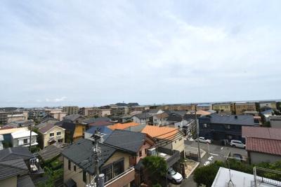 江ノ島と海一望のルーフバルコニー!