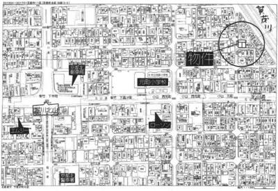 【地図】小山東玄以町(3号地) 新築戸建