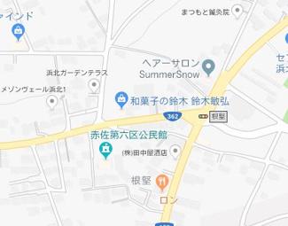 【地図】浜松市一棟アパート満室賃貸中10.0%