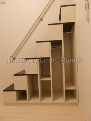 ハーモニーテラス南篠崎町の収納付き階段(別部屋参考写真)☆