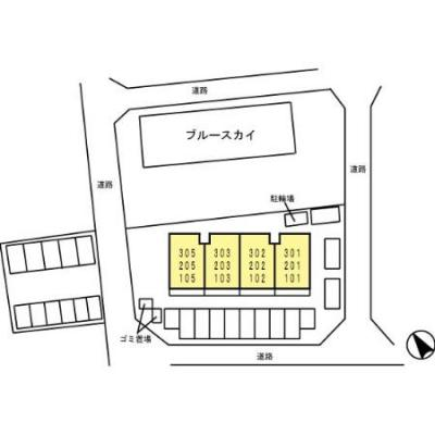 【区画図】ブルースカイⅡ