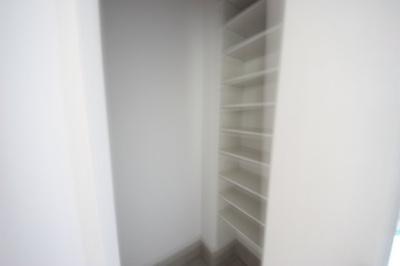 シューズクロークがついているので、片付いた玄関がキープできます。