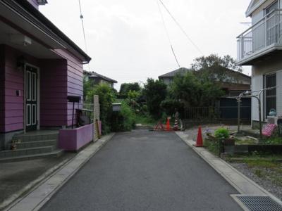 【前面道路含む現地写真】鶴ヶ島市下新田売地