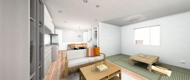【居間・リビング】梅林 5丁目 新築戸建