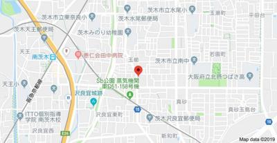 【地図】梶川コーポ