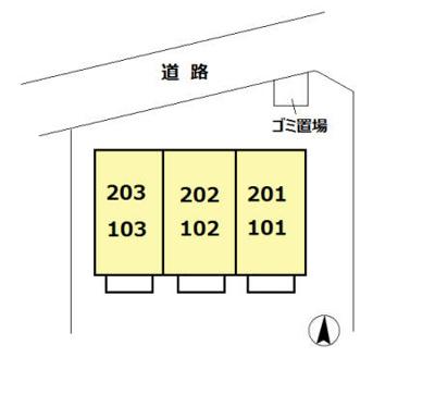 【区画図】小川荘1号棟