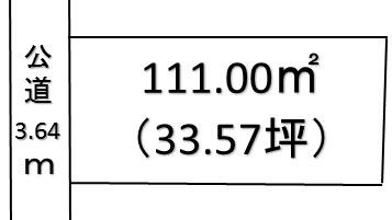 【土地図】熊谷市三ヶ尻 110万 土地