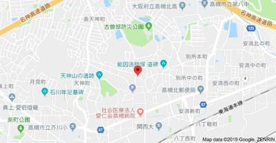【地図】プレザントイン古曽部