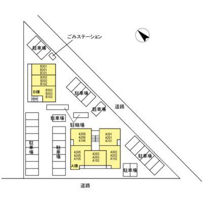 【区画図】サンレストA棟