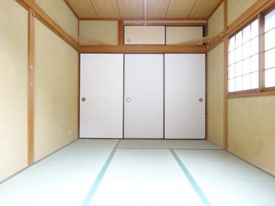 2階和室6帖 全居室6帖以上のゆったり間取り。