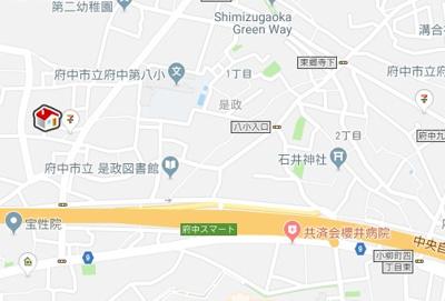 【地図】レオパレスエクレシアハイツ(40893-201)