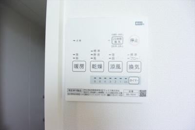 浴室換気乾燥機能付きで洗濯物も安心!