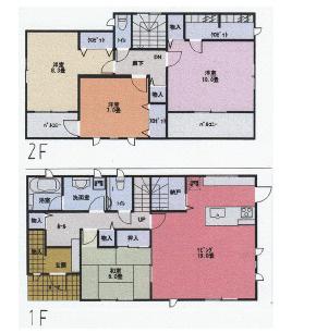 A棟号 4LDK+SIC+WIC+パントリー 大容量の収納がある間取りです。