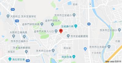 【地図】安威ハイツ