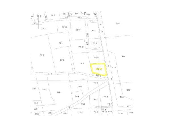 【土地図】南アルプス市小笠原75.4坪売地