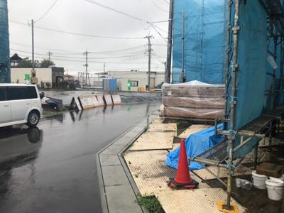 【前面道路含む現地写真】取手市青柳 新築一戸建J 多棟現場 きれいな街並み