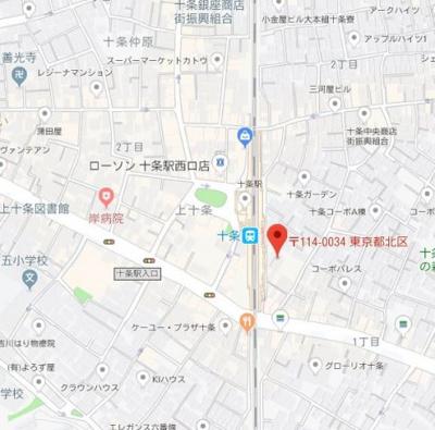 【地図】コスモリード十条駅前